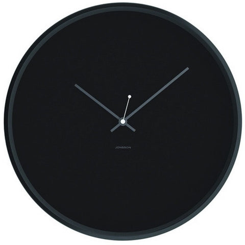 JONSSON Clock Minimal - Black / Grey / Black Steel