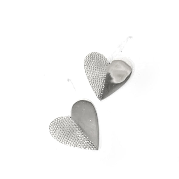 Hammered Metal Heart Small