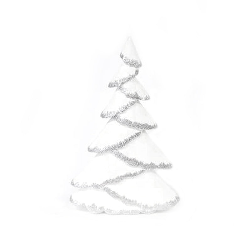 White & Silver Glitter Tree Large