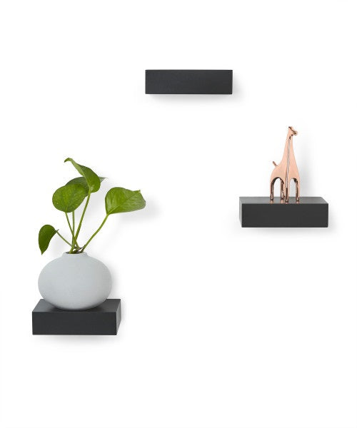 Umbra | Set (3) Showcase Shelves - Black