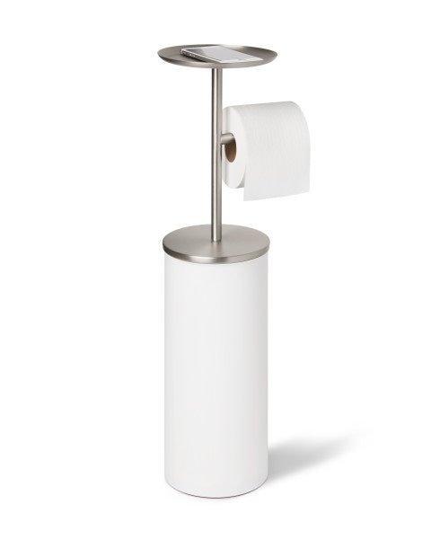 UMBRA | Portaloo Toilet Paper Stand - White/Nickel