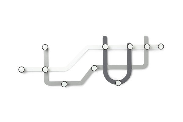 UMBRA | Subway Multi Hook - Greys