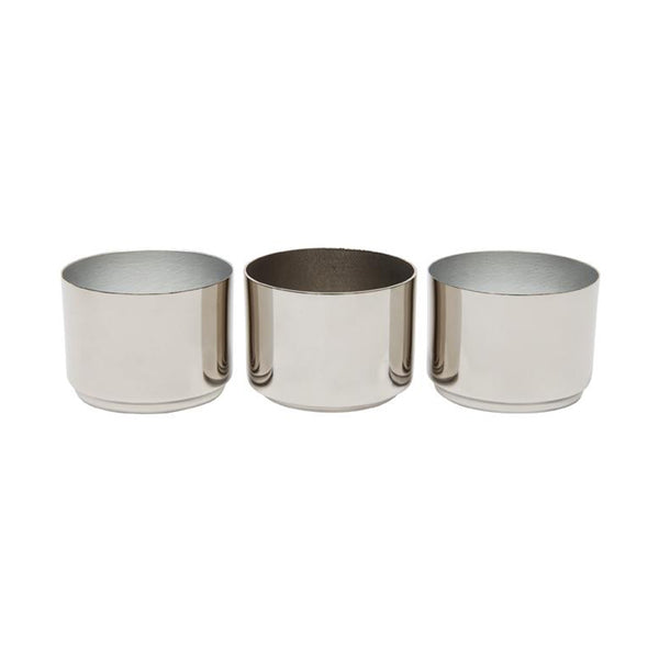 ZAKKIA Tealight Candle Holder - Set of 3 Silver