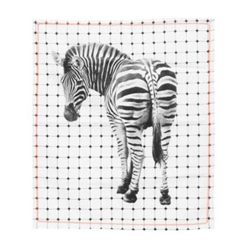 Zebra Tiles Tea Towel