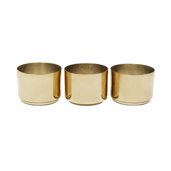 ZAKKIA Tealight Candle Holder - Set of 3 Brass