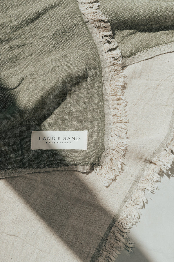 Land + Sand | Reversible Beach Blanket - Olive