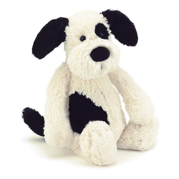 Jellycat | Bashful Black & Cream Puppy Small