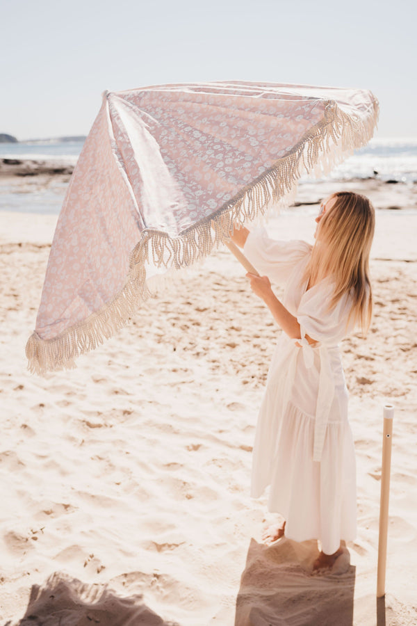 Land + Sand | Beach Umbrella - Vintage Floral