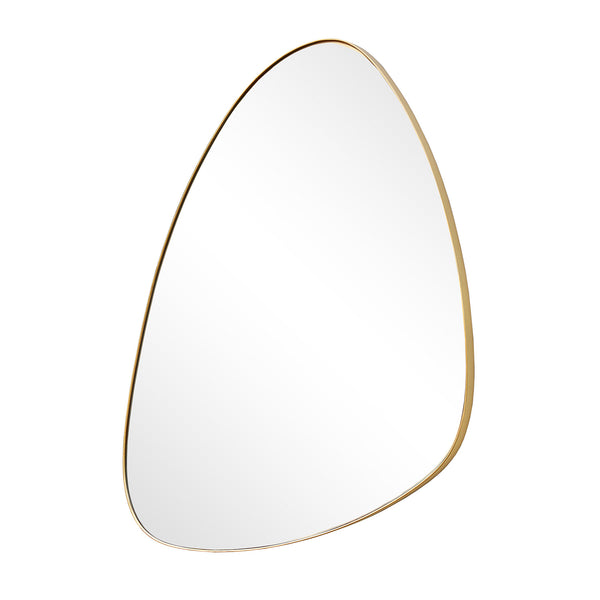 ASYMMETRICAL II WALL MIRROR 625 X 420MM GOLD