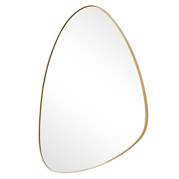 ASYMMETRICAL III WALL MIRROR 835 X 550MM GOLD