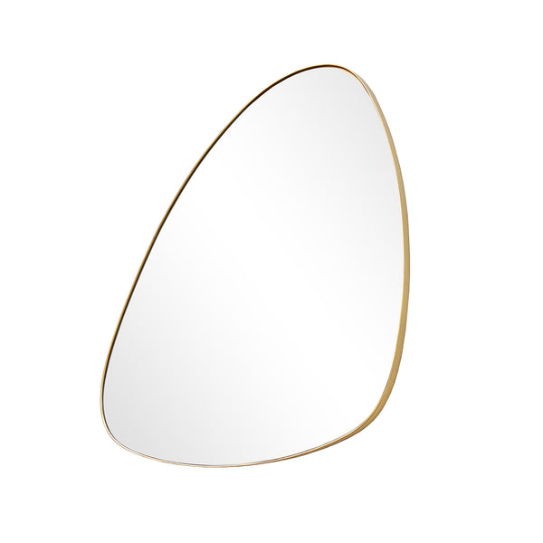 ASYMMETRICAL I WALL MIRROR 545 X 350MM GOLD