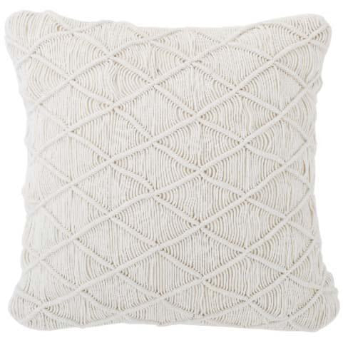 Oaxaca Cotton Macrame Cushion