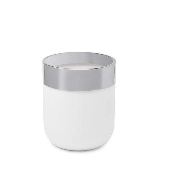 Junip Waste Canister - White / Chrome