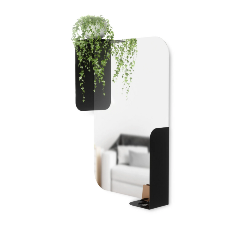 UMBRA | ALCOVE MIRROR WITH SHELVES