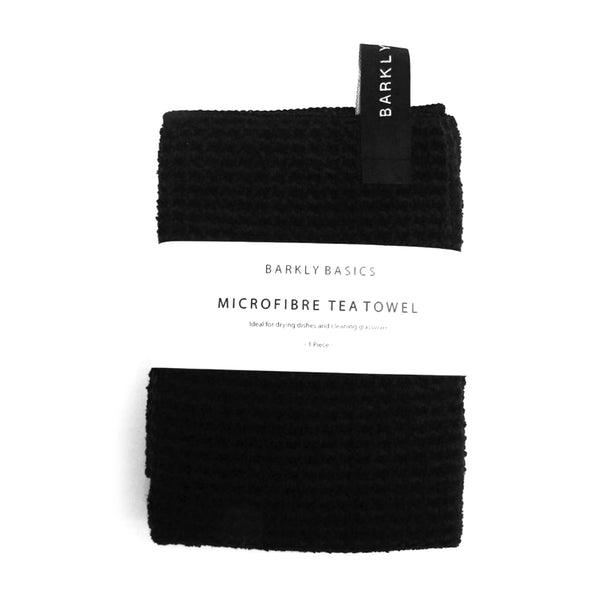 BARKLY BASICS | Microfibre Tea Towel - Black