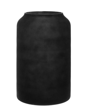 Deco Vase - Tall Black Frost
