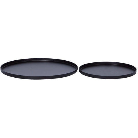 Round Tray Set of 2 - Black