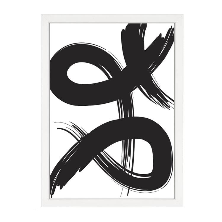 PAPIER HQ | PAINT BRUSH PRINT 2 BLACK