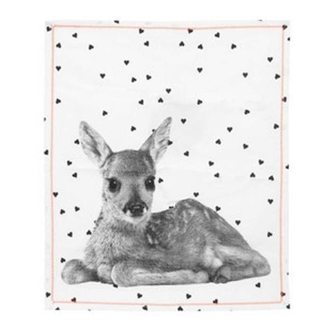Deer Hearts Tea Towel