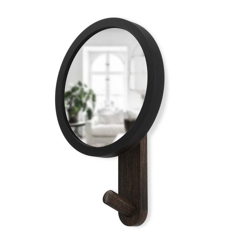 UMBRA | Hub Mirror Hook Black/Walnut
