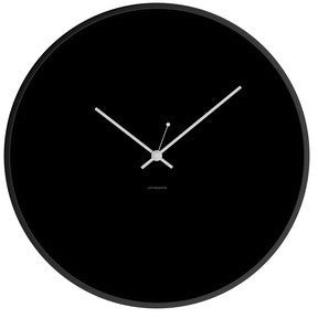 JONSSON Clock Minimal - Black / White / Steel Black