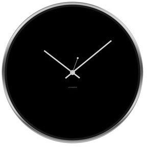 JONSSON Clock Minimal - Black / White / Steel