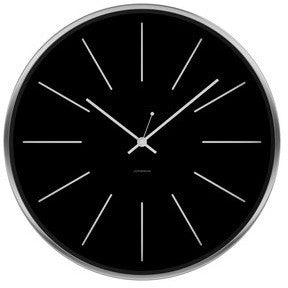 JONSSON Clock Station - Black / White / Brushed Steel