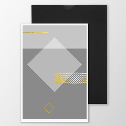 Gold Foiled Card 'Geo //'