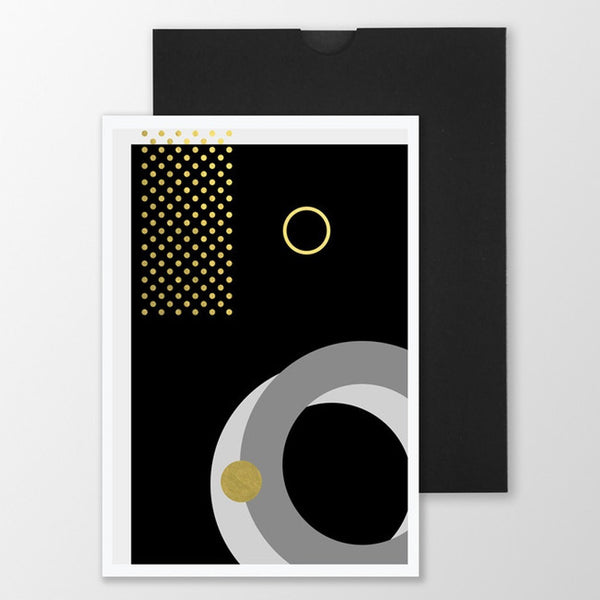 Gold Foiled Card 'Geo ///'