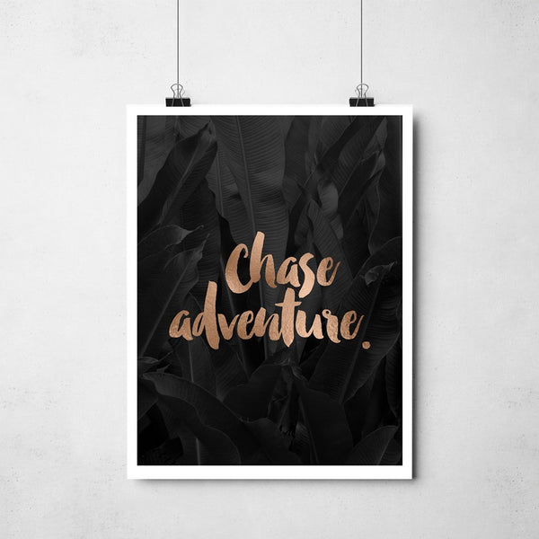 Chase Adventure Copper Foil Print
