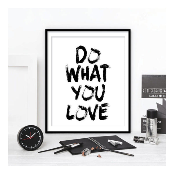 Hand-painted 'Do What You Love' Print