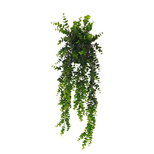 Faux Hanging Eucalyptus Plant Green