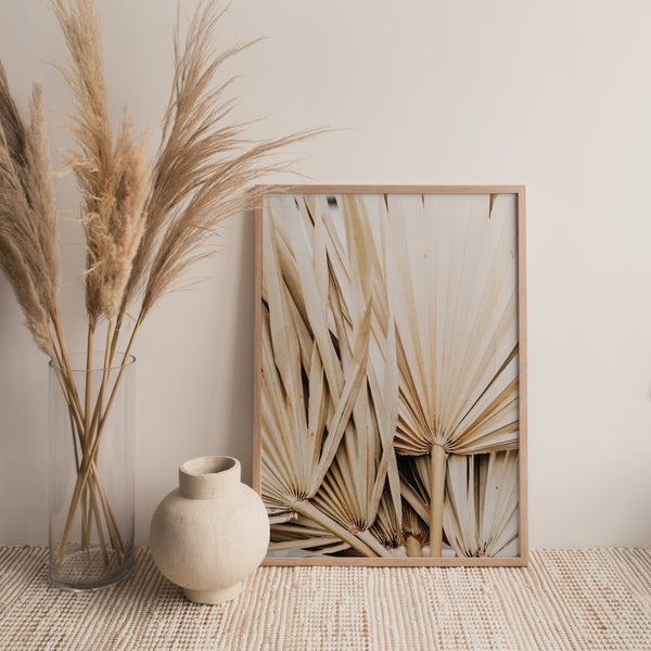 DRIED PALM LEAVES PRINT