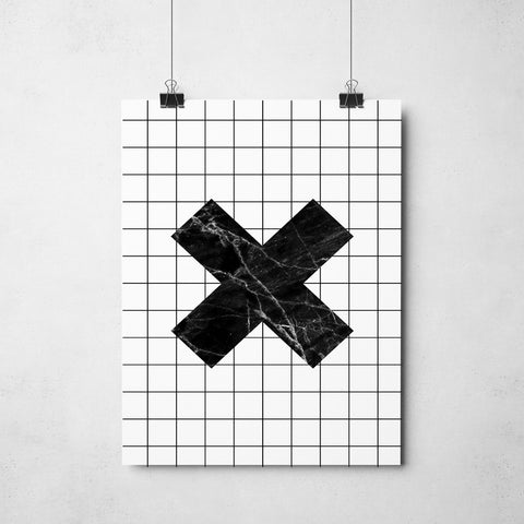 Grid Cross Print