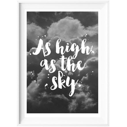 High as the Sky Print