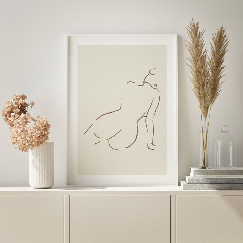 NAKED SILHOUETTE NATURAL PRINT