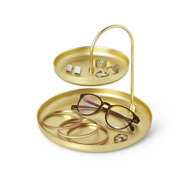 Umbra | Poise Two Tier Ring Dish Brass