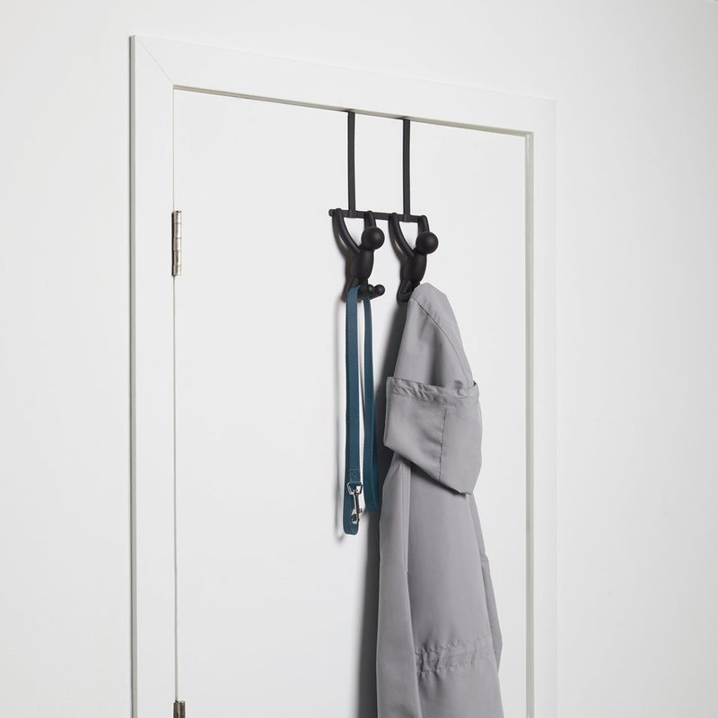 UMBRA | BUDDY OVER THE DOOR HOOK BLACK