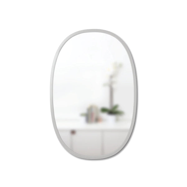 UMBRA | HUB MIRROR OVAL 61 X 91 GREY