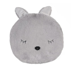 SLEEPY MOUSE GREY KIDS CUSHION