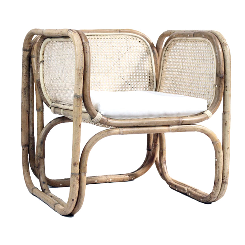 Square Rattan Chair