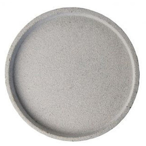 Round Concrete Tray - Medium Natural