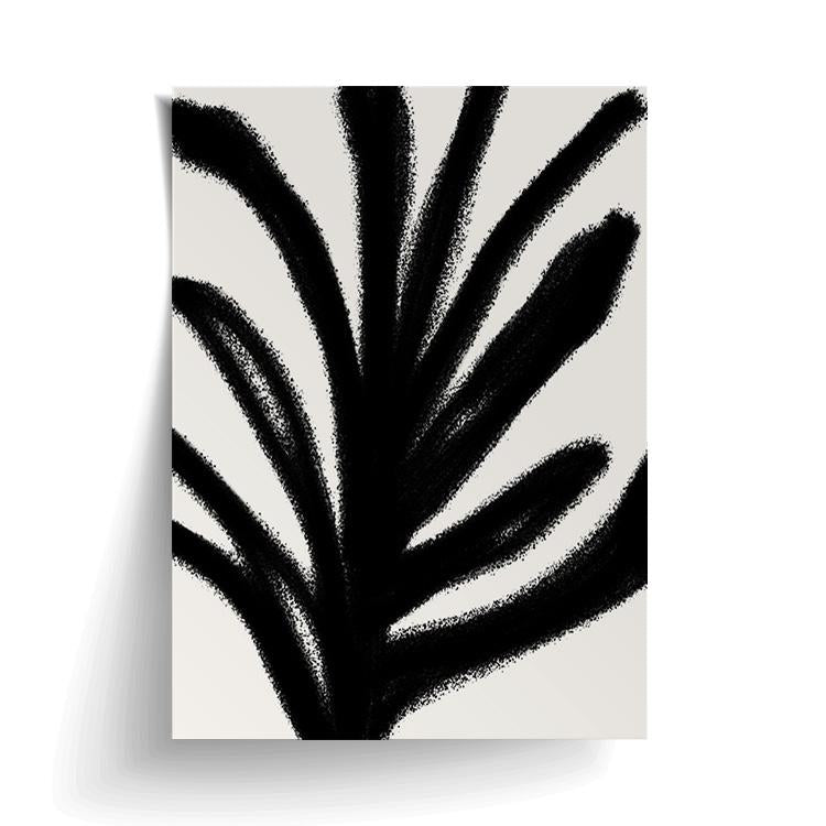 PAPIER HQ | ABSTRACT LEAF PRINT BLACK