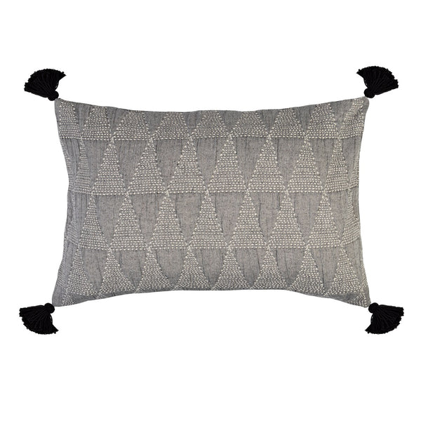 ZION PILLOWCASE - ASPHALT GREY