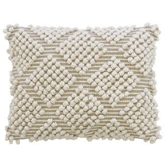 HANDLOOMED DIAMOND BOBBLE CUSHION