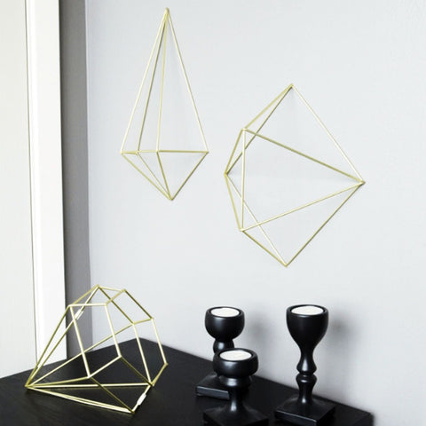 Prisma Wall Decor - Set of 6 - Brass / Copper