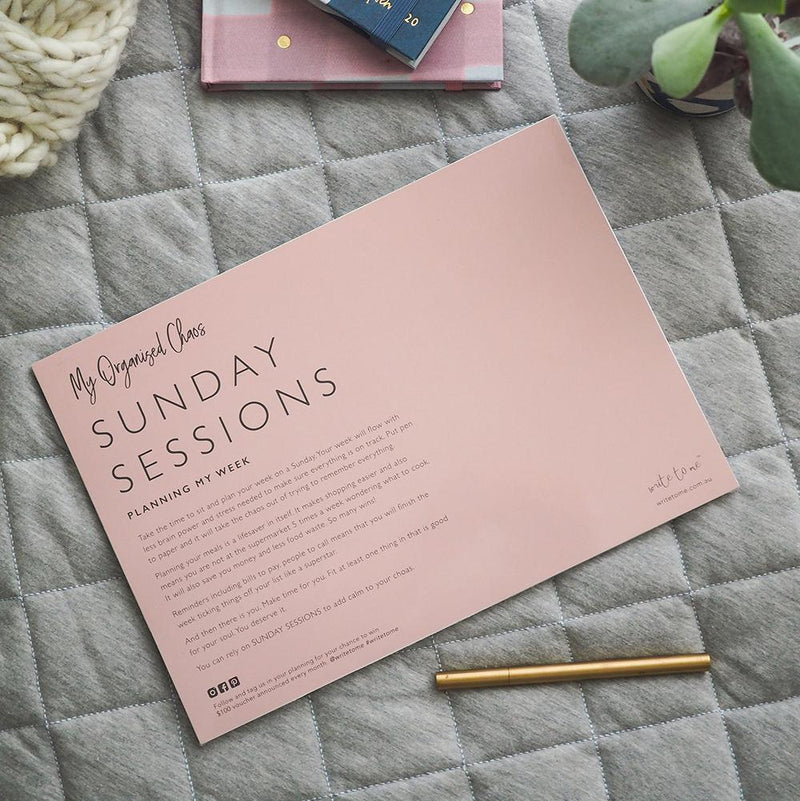 WRITE TO ME | Sunday Sessions - Planning My Week
