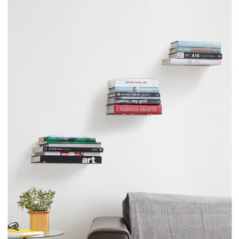 CONCEAL BOOK SHELF LARGE SILVER