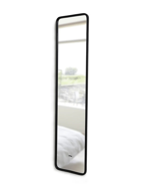 UMBRA | HUB LEANING MIRROR - BLACK