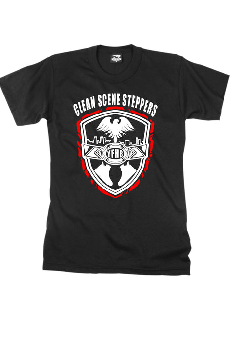 Black Short-Sleeve TWARD x Frezh Division Collab: Clean Scene Steppers!!!